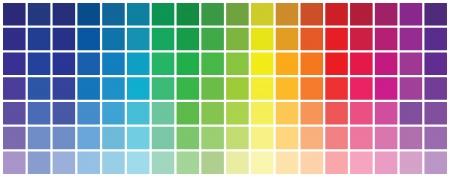 Astratto colorato RGB palette Vettoriali