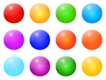 Colored Shiny Buttons Vector