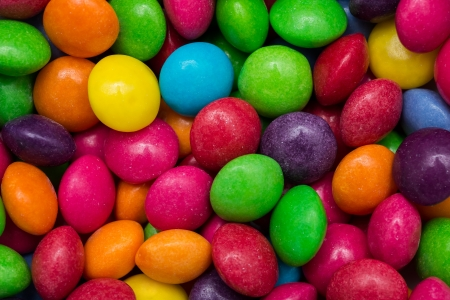Closeup Photo Of Multicolored Fruit Flavoured Candies photo