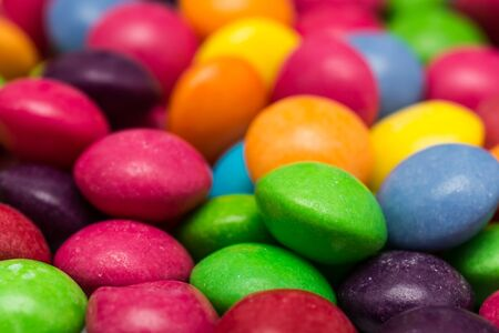 Closeup Photo Of Multicolored Fruit Flavoured Candies Stock Photo - 17992252