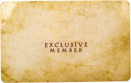 Exclusive Member Card Isolated On White photo