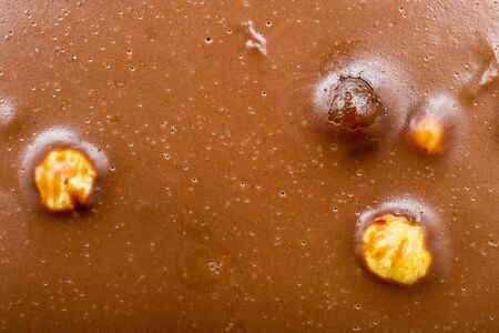Texture Of Homemade Chocolate With Hazelnuts Stock Photo - 17992211