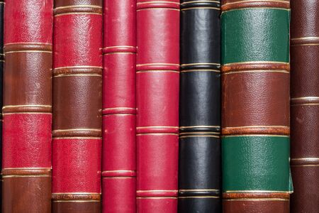 tomes: Lots Of Old Books On A Library Shelf