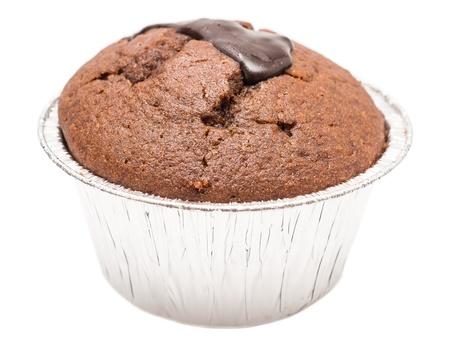 Homemade Chocolate Cupcake Isolated On White Stock Photo - 18014409