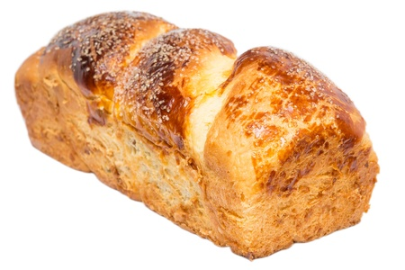 Romanian Cake On A White Background  Cozonac is a traditional Romanian, Bulgarian, Macedonian and Albanian sweet bread cooked on the major holidays  Easter and Christmas Stock Photo - 18014297