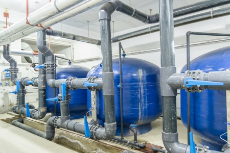 Industrial Interior  Water Reservoirs And Pipes