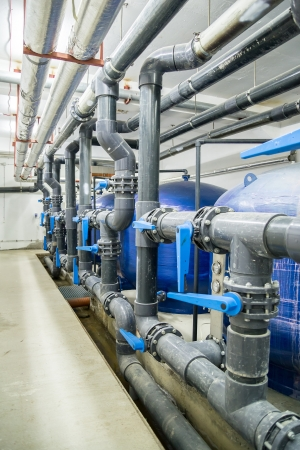 water treatment: Industrial Interior  Water Reservoirs And Pipes