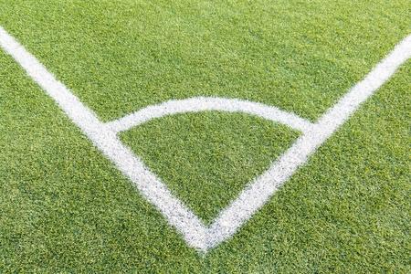 prato sintetico: Campo da calcio erba sintetica Molto dettagliata consistenza con angolo White Line