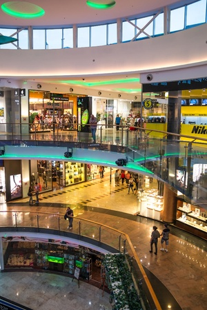Inside View Of Baneasa Shopping Mall In Bucharest, Romania. Stock Photo - 18115328