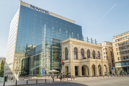 Modern Hotel In Downtown Bucharest, Romania Stock Photo - 18171727