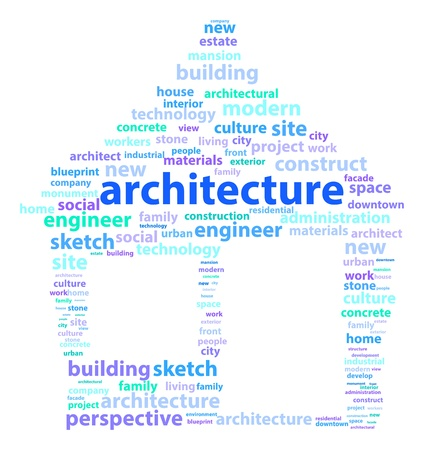 Architecture Related Words Making A House Stock Vector - 18036631