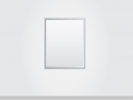 posted: Blank Frame Of A Painting On A Wall