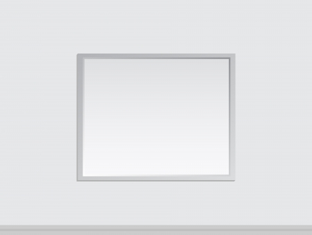 tableau: Blank Frame Of A Painting On A Wall