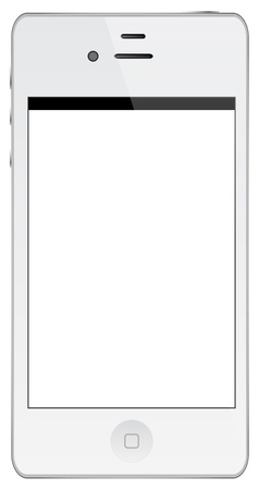 White Iphone Isolated On White