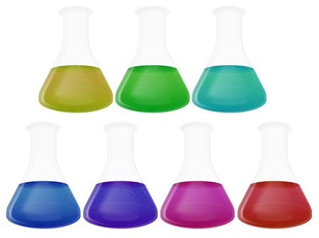 Laboratory Flasks Stock Photo - 18128205