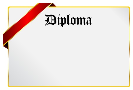 Blank Diploma Document Isolated On White