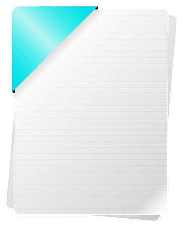 Blank Documents With Blue Paper Holder Stock Vector - 18142469