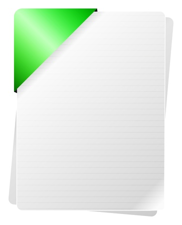Blank Documents With Green Paper Holder Stock Vector - 18142451