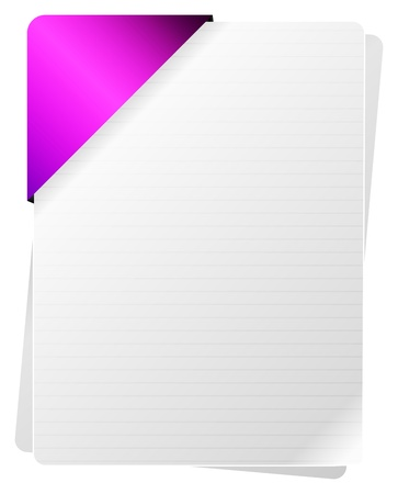 Blank Documents With Purple Paper Holder Vector