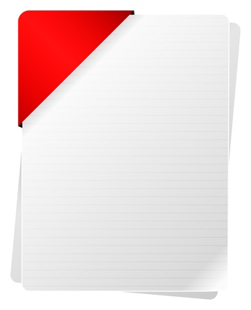 Blank Documents With Red Paper Holder Stock Vector - 18142450