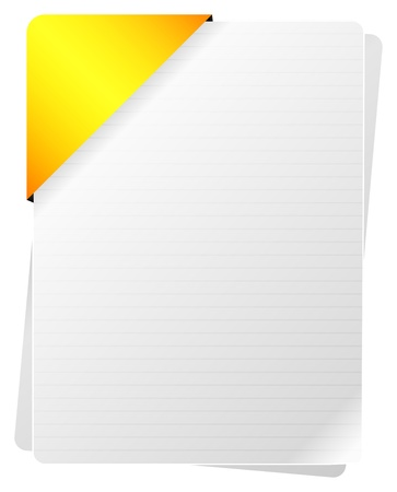 Blank Documents With Yellow Paper Holder Vector