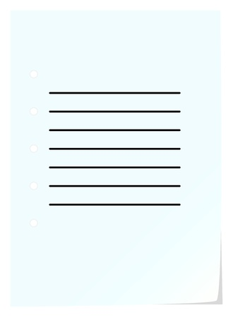 notebook page: Simple Blank Notebook Page On White Background
