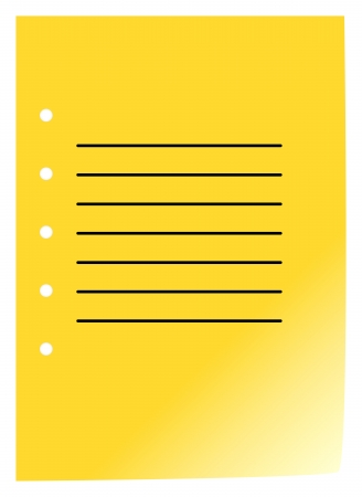 Simple Blank Notebook Page On White Background Stock Vector - 18142462