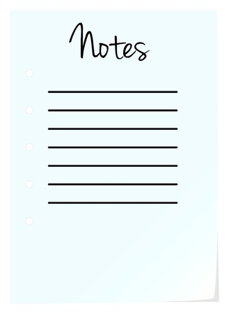 Note Pad Page On White Background Stock Vector - 18142479