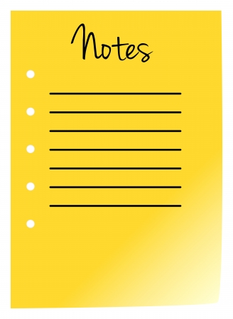 Note Pad Page On White Background Stock Vector - 18142464
