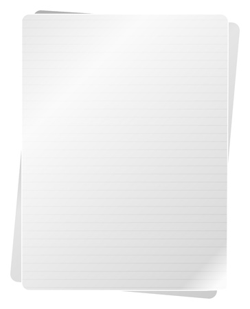 Blank Notebook Pages Stock Vector - 18159549