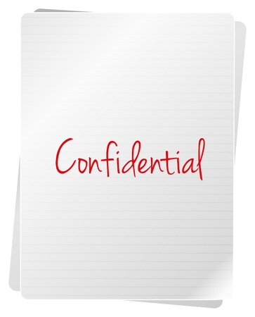 Confidential Documents On White Background Stock Vector - 18159552