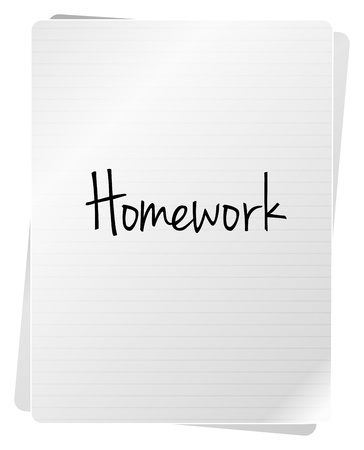 Homework Notebook Of A Student Stock Vector - 18159550