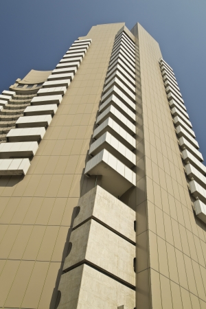 The InterContinental Bucharest is a highrise five star hotel situated near University Square, Bucharest, in sector 1 and is also a landmark of the city  It is 77 m tall and has 25 floors, containing 283 guest rooms  Stock Photo - 18193908