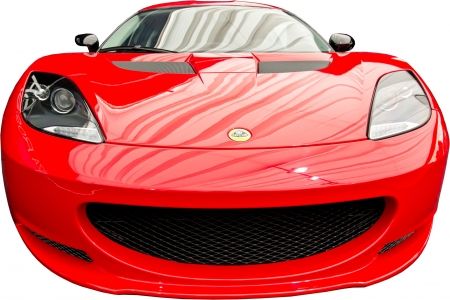 Red Elise  Front View  Isolated On White Stock Photo - 18280038