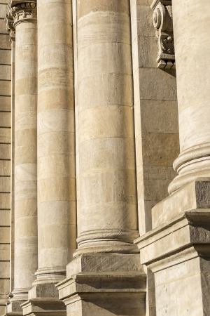 Detailed View Of Columns From A Courthouse photo