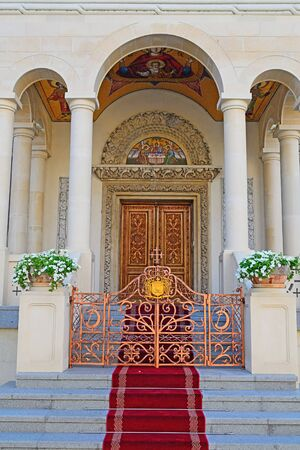 Entrance In A Christian Monastery photo
