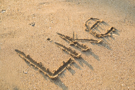 The Word Like Written In Sand Stock Photo - 18495262
