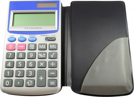 powered: Solar Powered Calculator Isolated On White