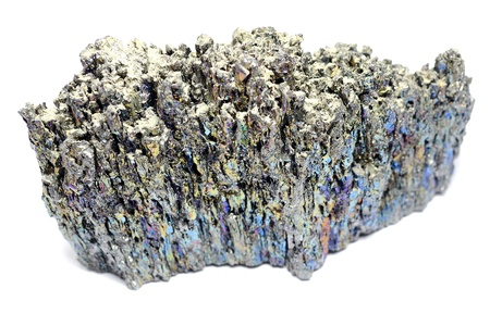 Chalcopyrite Stone On A White Background photo