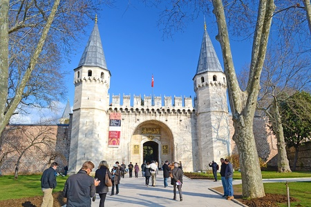 commanded: Topkapi Palace was commanded by sultan Mehmed The Second Fatih in 1459 and finished in just 6 years. It is the symbol and center of The Ottoman Empire. The palace courtyard has a lot of smaller buildings and 4 important areas surrounded by tall walls. Editorial