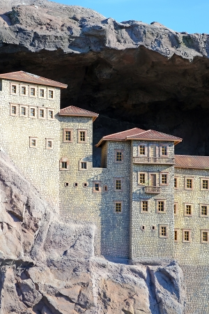 high priest: This Is A Replica Of Sumela Monastery  The Sumela Monastery is a Greek Orthodox monastery, standing at the foot of a steep cliff in the region of Macka in Trabzon Province, modern Turkey