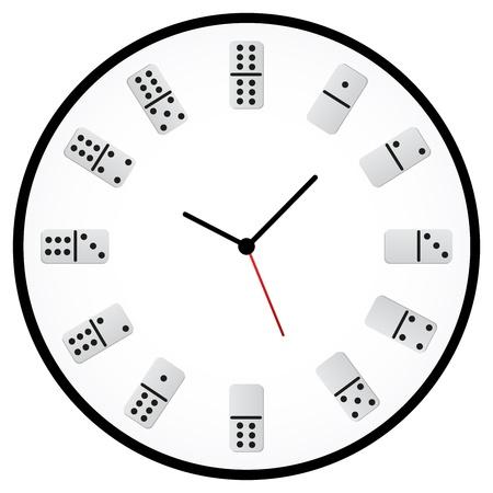 minimalista: Minimalista Clock With Kockák jelző óra Illusztráció