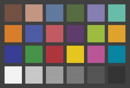 Color Checker Used In Photography The Colors Of The Chart Are