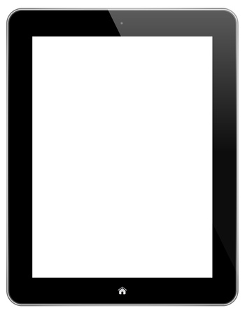 Black Touch Screen Tablet Isolated On White Vector