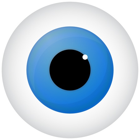 fovea: Blue Eye Isolated On White Illustration