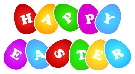 Happy Easter Sign On A White Background Stock Vector - 18625212