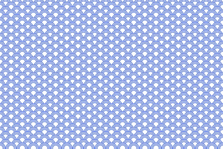 Seigaiha Means Waves Of Sea In Japanese. In Japan It Has Been Used As A Clothing Motif (especially in summer time) For Over A Thousand Years. Here Is A Illustration Of This Pattern. Vector