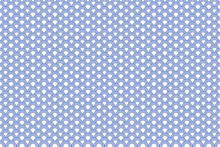 Seigaiha Moyens vagues de la mer en japonais. Au Japon, il a été utilisé comme motif Vêtements (surtout en été) Pour plus de mille ans. Voici une illustration de cette tendance. Vecteurs