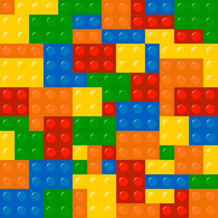 Colored Building Blocks Texture Illustration Stock Vector - 18625265