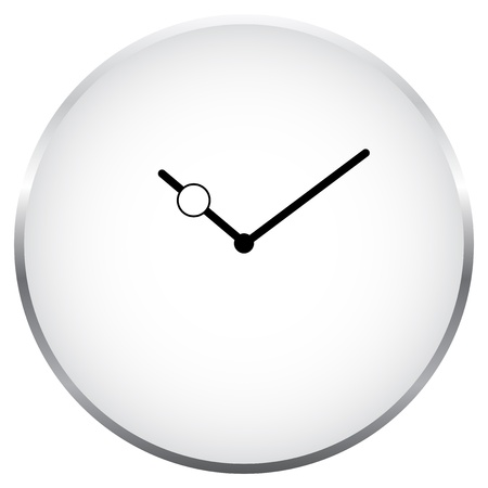 Minimalist Clock Isolated On White Vector